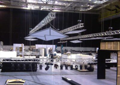 Conferencia de Rigging truss motores estructuras, Soluciones Técnicas de rigging y efectos verticales